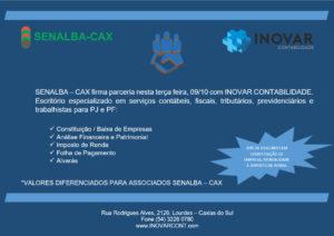 Inovar Contabilidade nova parceira com SENALBA