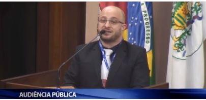Audiência pública Educação Infantil  . advogado João Henrique Leoni Ramos
