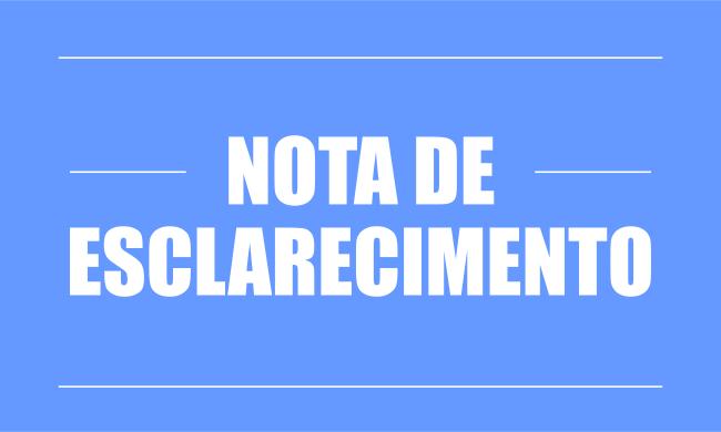 NOTA DE ESCLARECIMENTO SOBRE O DESCONTO DA COLABORAÇÃO DE CUSTEIO