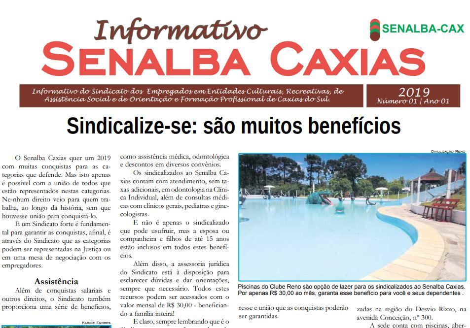 Jornal Senalba Caxias – INFORMATIVO