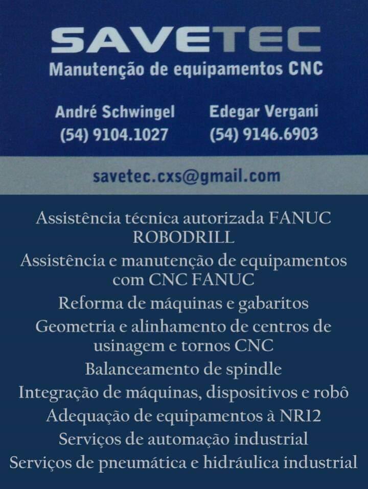 SAVETEC – MANUTENÇÃO DE EQUIPAMENTOS CNC