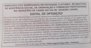 EDITAL DE OPOSIÇÃO